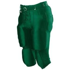Alleson Youth Nylon/Spandex Football Pants DG   DARK GREEN