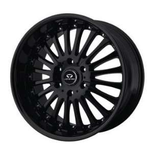 Lorenzo WL018 20x10 Black Wheel / Rim 5x112 with a 38mm Offset and a