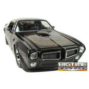Big Time Muscle Black 1972 Pontiac Trans Am 124 Scale Die Cast Car