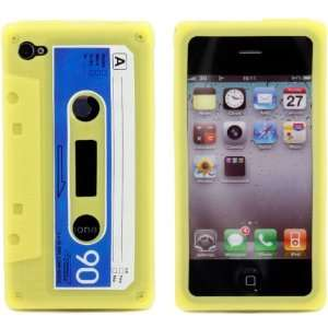 Retro Yellow Super Realistic Cassette Tape Flexible
