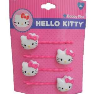 Hello kitty Bobby Pins   Pack of 4 ***White & Pink