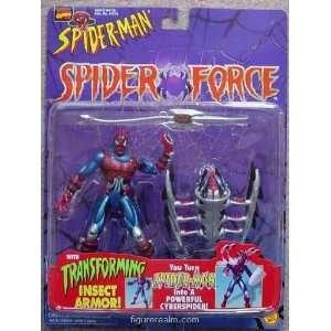 Spider Man (Toy Biz) Spider Man (Cyber Sect) Spider Force