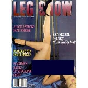 LEG SHOW OCTOBER 1990: LEG SHOW MAGAZINE:  Books