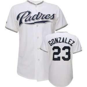 Adrian Gonzalez White Majestic MLB Home Replica San Diego Padres