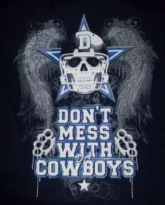 New Dallas Dont Mess With Da Cowboys T shirt Small