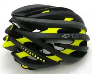 2012 Giro Aeon Matte Black / Yellow Livestrong Bicycle Helmet   Medium