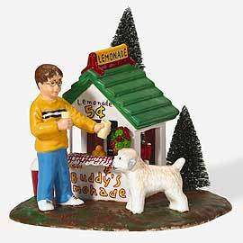 Retired Dept 56 Snow Village   Ben & Buddy Lemonade Stand   New