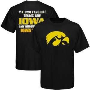 Of Iowa Hawkeye T Shirt  Iowa Hawkeyes Black Favorite Team T Shirt