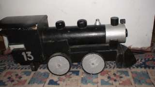 ANTIQUE WOODEN STEAM ENGINE