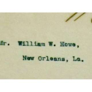 President/William H. Taft/Signed/Letter/1908/Election