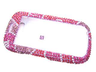 HEARTS PINK DIAMOND BLING CRYSTAL FACEPLATE CASE COVER SAMSUNG