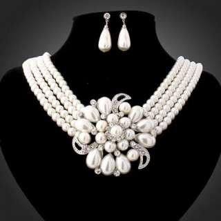 ARINNA Swarovski Crystals fashion earring necklace sets
