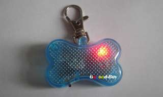 Pet dog safety flash LED Blinker lighte collar bone tag