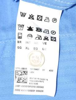 HUGO BOSS BLACK Button Shirt Lex Long Sleeve Self Stripe XL Blue EUC