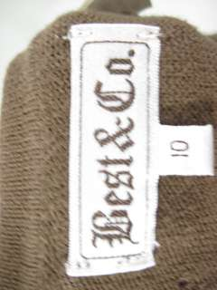 BEST & CO. Kids Brown Knit Sweater Cardigan Size 10