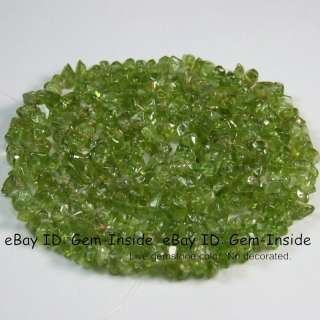 6mm Green Peridot Gemstone Beads chips strand
