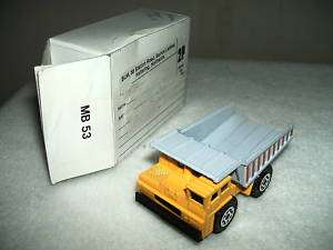 MATCHBOX International DUMP TRUCK MB53 1140 1989
