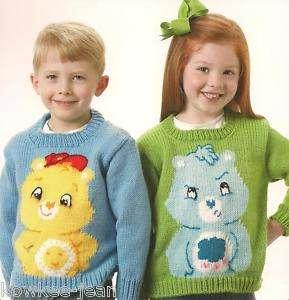Bears sweaters hand knitting patterns kids sz 4 10 028906033540