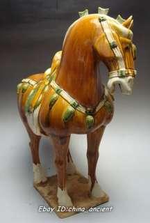 Rare Chinese Tang sancai Pottery Glaze Horse Statue