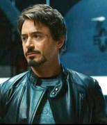 Tony Stark Iron Man Movie Black Designer Leather Jacket