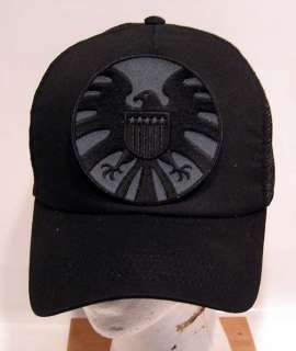 IRON MAN Black Widow Logo Baseball Cap/Hat w Patch