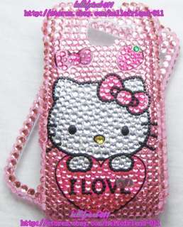 Hello kitty Bling Case Cover For Samsung Transform M920 #2