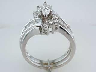Zales / Kay 1.5ct F SI1 Diamond 14K White Gold Engagement Ring Bridal