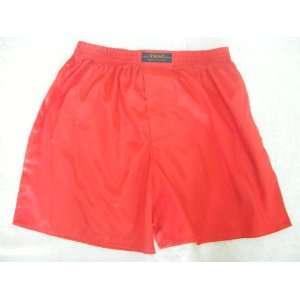Boxer Shorts  Scarlet Red Solid Color/No Design (SIZE MEDIUM 25 27