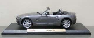 BMW Z4 Diecast Model Car   Maisto   118 Scale   Gray