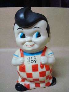 Boy Collectible Coin Money Bank Hard Vinyl Plastic Retro Era!!