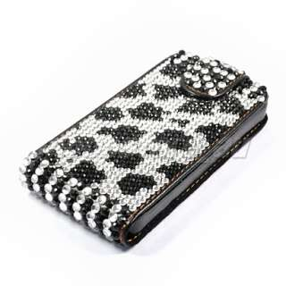 BLING RHINESTONE LEATHER CASE COVER FOR IPHONE 4 4G 126