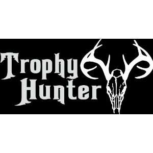 HNT5 (63) 8 white vinyl decal trophy hunter die cut decal sticker