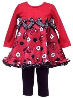 New Girls Rare Editions DAISY LADYBUG Dress Clothes 12m