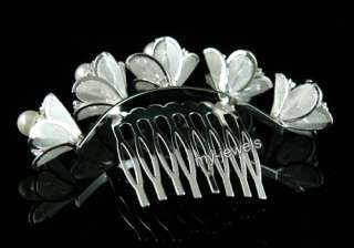 Bride / Flower Girl Crystal Faux Pearl Tiara Comb T1315