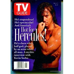 Tv Guide Feb 1 7 1997 Kevin Sorbo of Hercules TV Guide Books