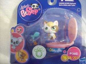 Littlest Pet Shop~LPS~#1461~Cat & Fish Container~NEW