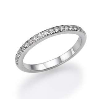 50 Ct. Micro Pave Diamond Wedding Band 14K White Gold