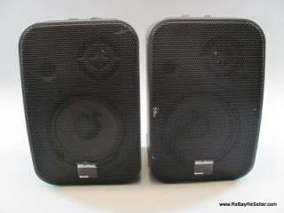 Recoton 1682 K965 Wireless Speakers 900MHz Pair Set Black