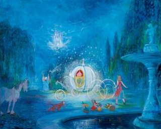 Disney Art DREAM IS A WISH YOUR HEART MAKES Cinderella