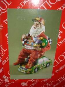 Clothtique Race Car Driver SANTA Possible Dream NASCAR