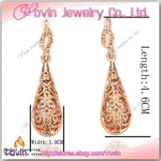 18K Rose Gold Swarovski Crystal GP Fashion Earrings E016