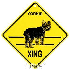 Yorkie Puppy Cut Dog Crossing Xing Sign New Yorkshire