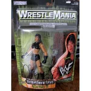 WWE WRESTLEMANIA 2000 COLLECTOR TITANTRON LIVE SERIES 3 CHYNA ACTION