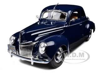 1939 FORD TUDOR DELUXE BLUE 1/18 DIECAST MODEL CAR