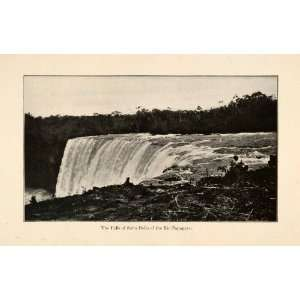 1919 Halftone Print Salto Belo Falls Rio Papagayo River