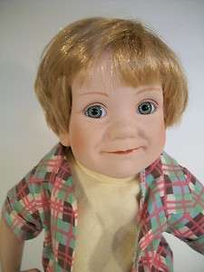 Danbury Mint Porcelain Doll Andy Little Fisherman Elke Hutchens 1992