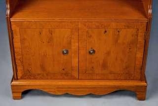 Antique Style Yew Wood Book Shelf Bookshelf Bookcase