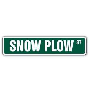 SNOW PLOW Street Sign business signs truck driver new