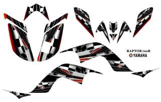 Yamaha Raptor 700 ATV Quad Graphics Decal kit #3002Red
