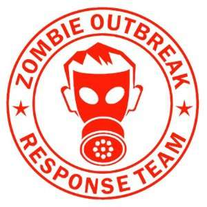 Zombie Outbreak Response Team IKON GAS MASK Design   5 RED   Vinyl
